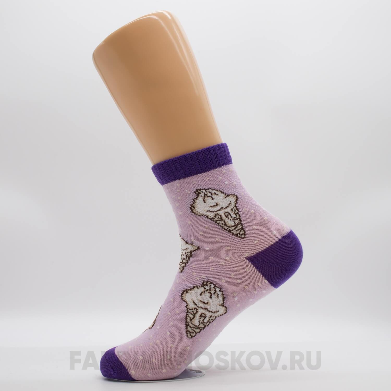 Женские носки с мороженым