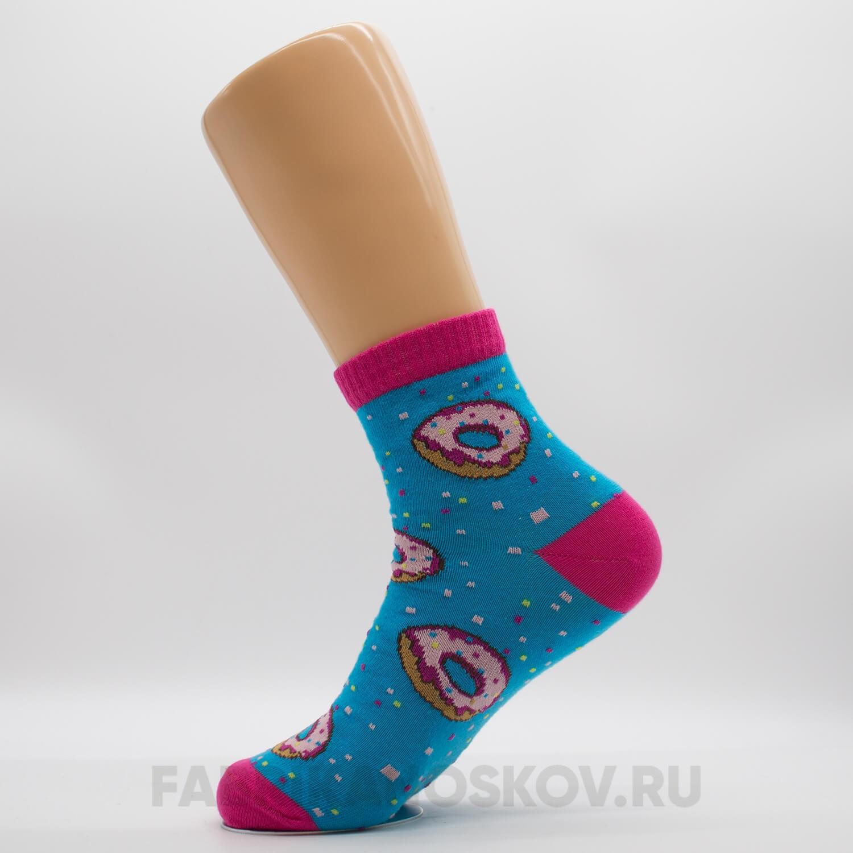 Женские носки с пончиком
