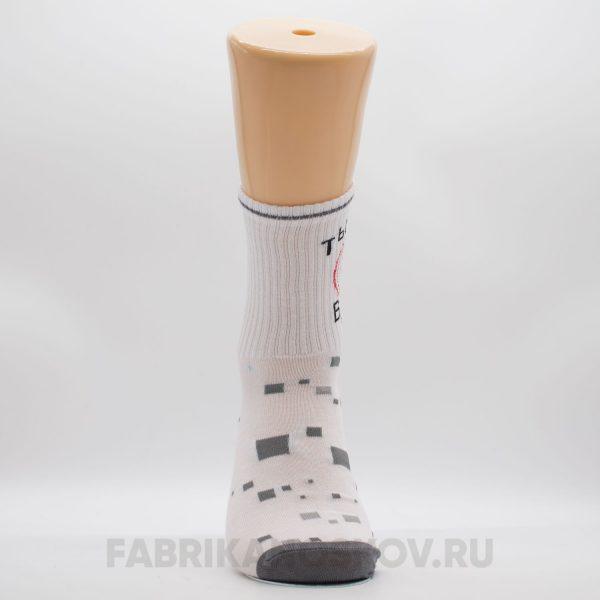 """Женские носки со спортивной резинкой """"Ты мое всё"""""""