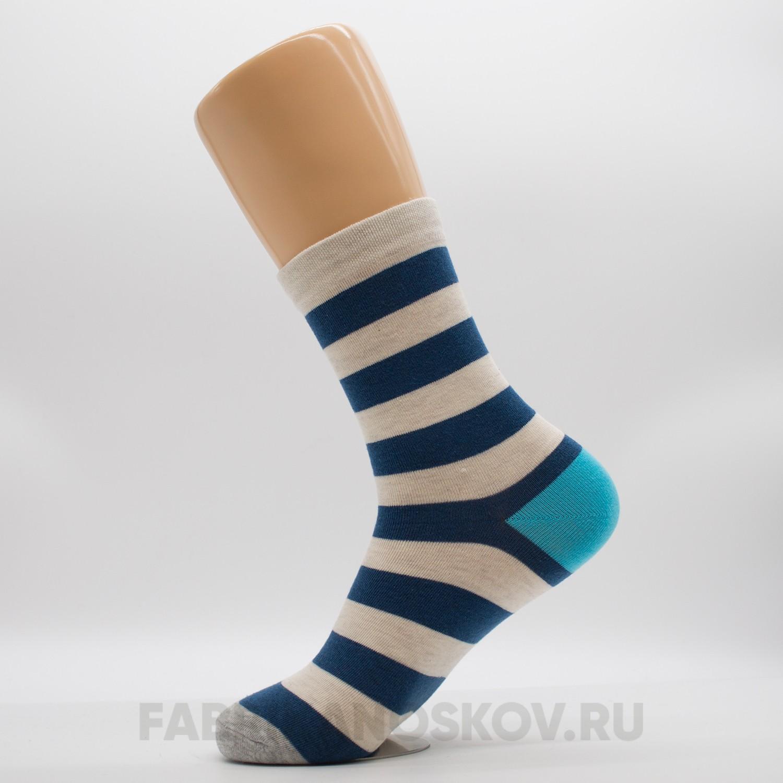 Женские носки с полосками