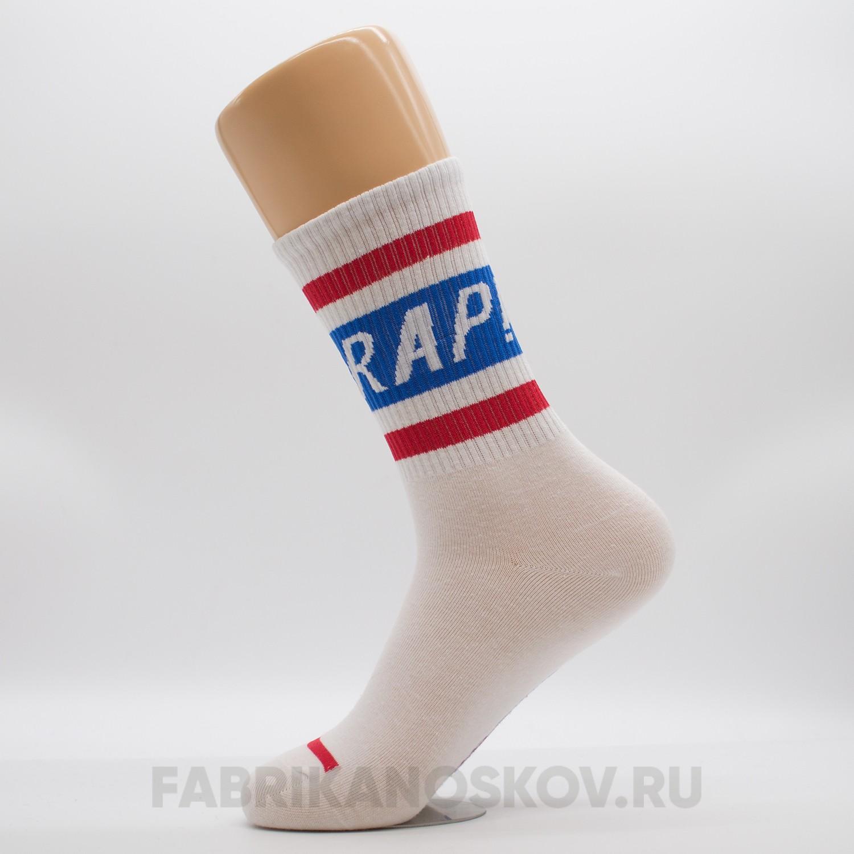 Женские носки с надписью «Rap»