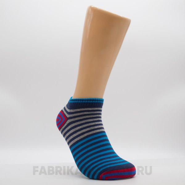 Короткие мужские носки с линиями разных цветов