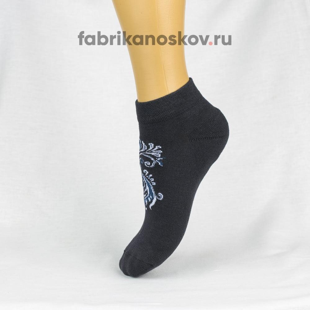 Женские носки с узором на подъеме
