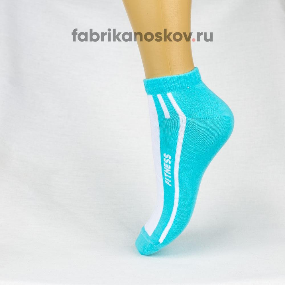 Женские короткие носки с надписью FITNESS