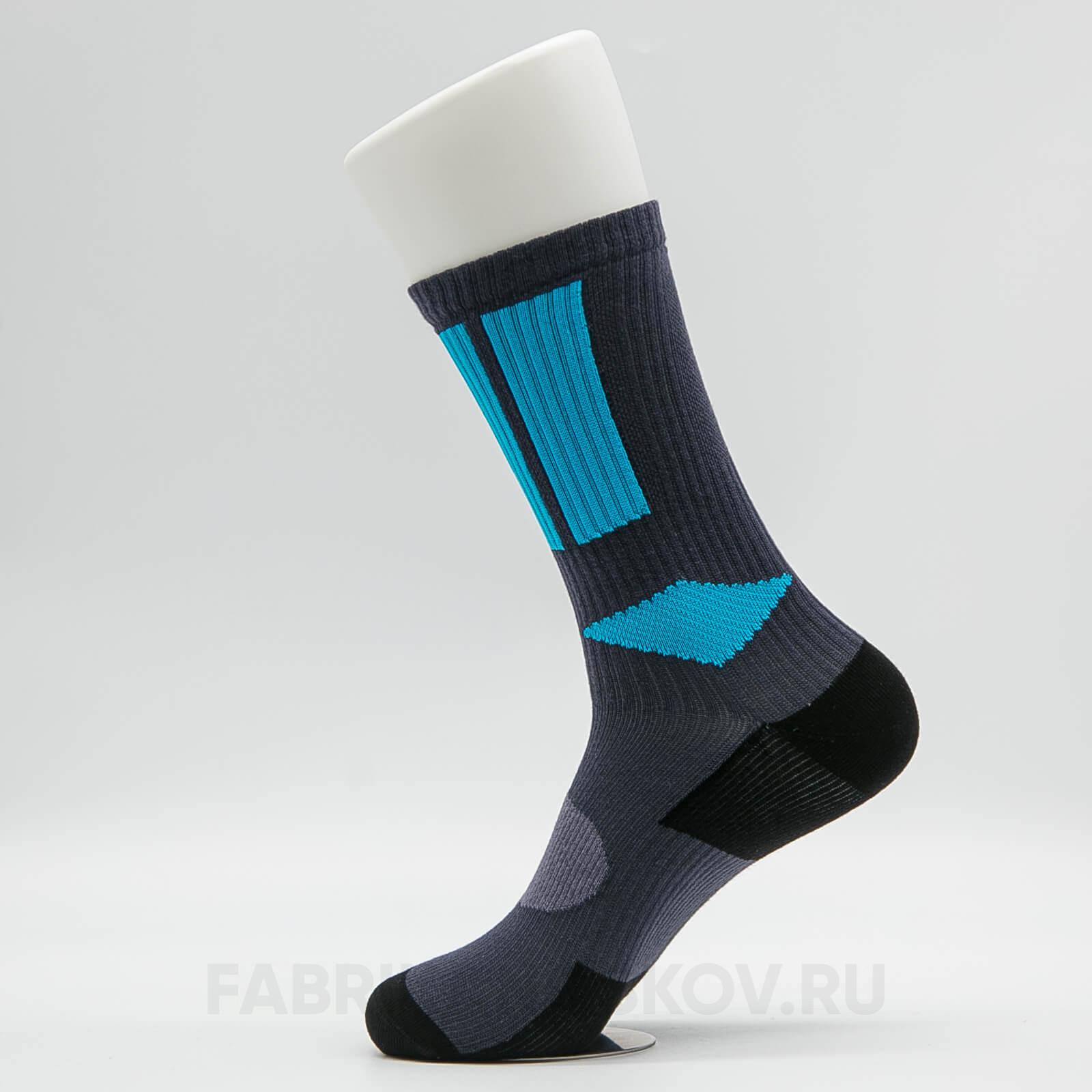 Носки мужские с голубой вставкой