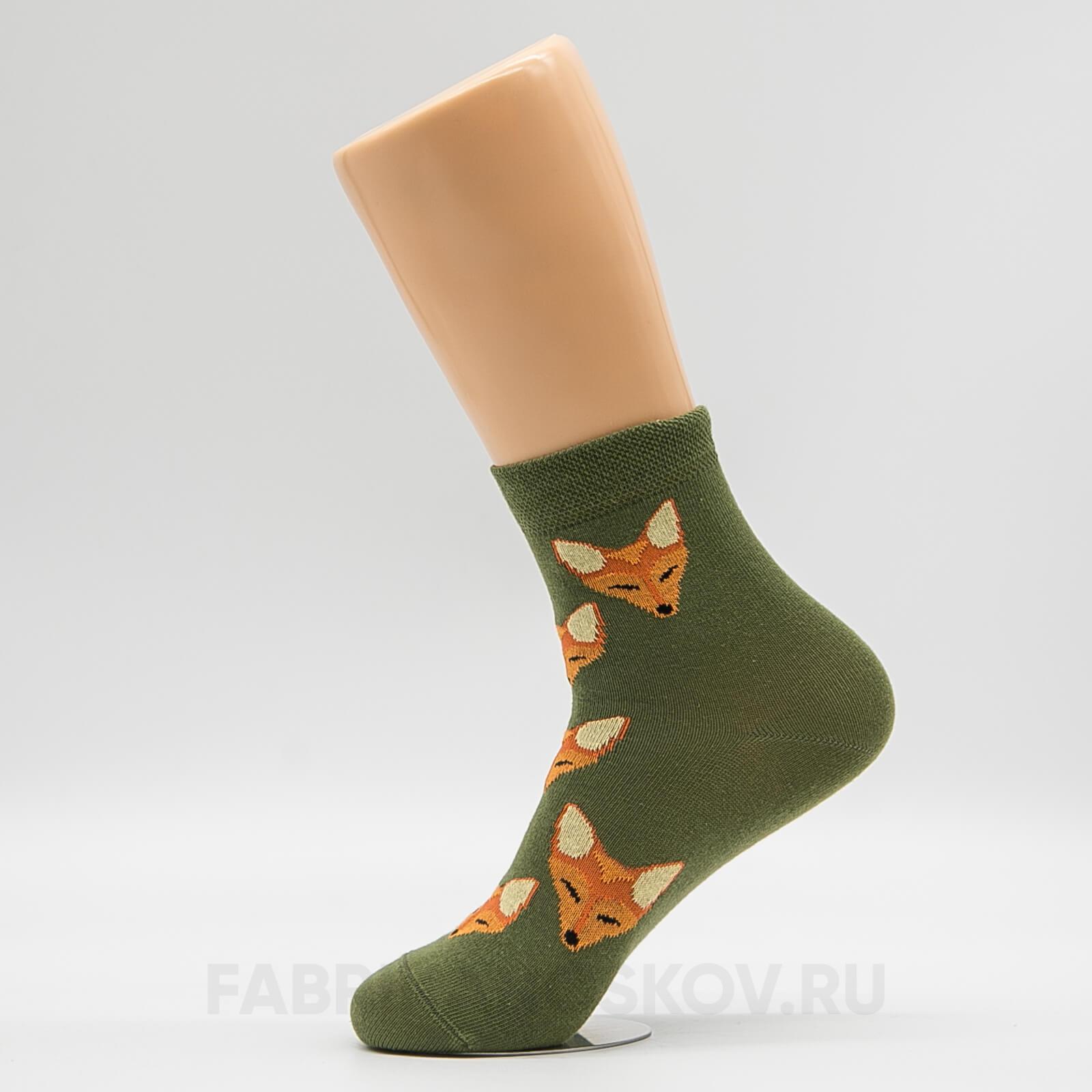Женские носки с лисичками